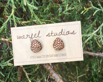 Pine Cone Studs