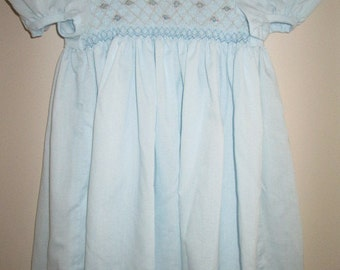 Girl's Smocked Dress - Hand-Made, Size 3