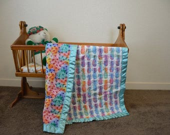 Rainbows and Pineapples - Baby / Toddler Quilt