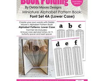 Debbi Moore Book Folding Pattern Book Alphabet Miniature Font Set 4A (Lower Case)