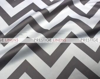 CLOSEOUT FABRIC - Chevron Lamour ZigZag Dress Apparel - Grey - 2.25 Yard