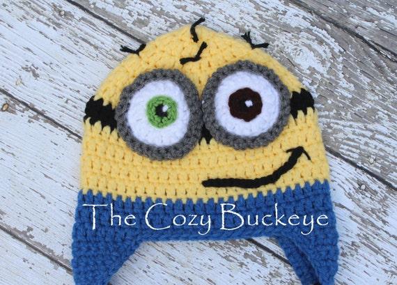 Instant Download Crochet Pattern Minion Hat Despicable Me
