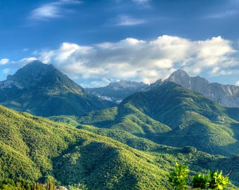 A Garfagnana's landscape - Mountains - Landscape - Nature - Photography - Photo - Art - Clouds - Tuscany