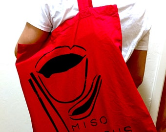 Miso Serious Canvas Bag - original design, hand printed