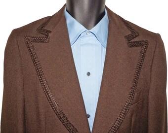 1970s Mens Tuxedo Jacket 38L Vintage Retro Hippie
