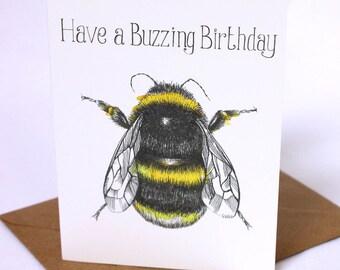 Birthday Bumblebee Card