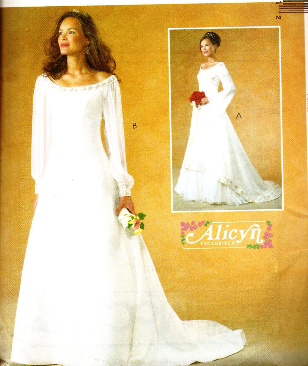 McCall\'s 4300 Alicyn Exclusives Medieval Style Empire Waist Wedding ...