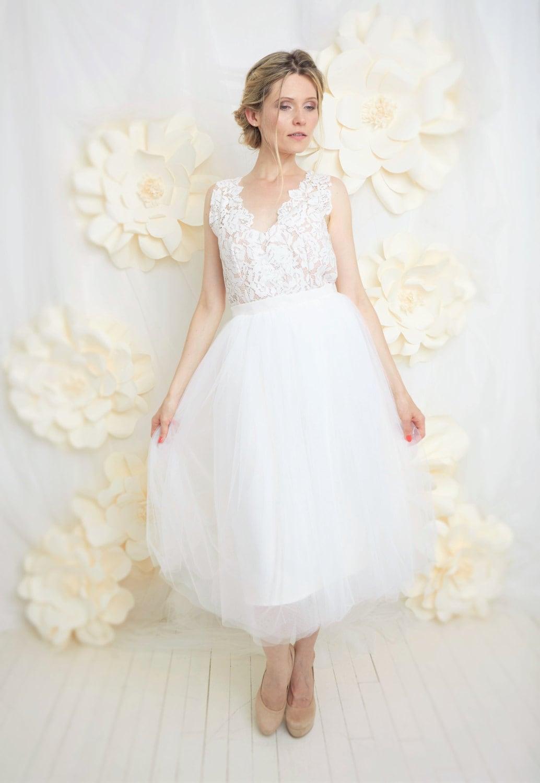 Retro-Brautkleid Kleid kurze Hochzeit Tutu und rückenfreie