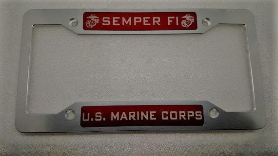 U.S. Marine Corps Semper Fi Aluminum License Plate Frame