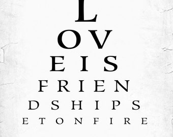 Personalized Valentine Gif For Him, Custom Eye Chart, Last Minute Gift, Customized with your Names and Wedding Date – DIGITAL PRINTABLE JPEG