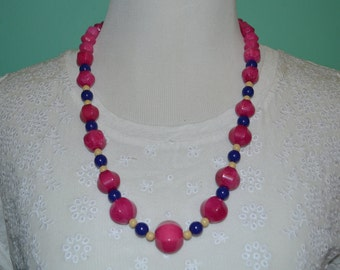 Pop of color long necklace