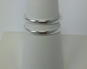 Sterling silver double bar ribg