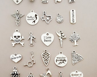 Add a Charm - Add a Silver Charm to Your Necklace / Bracelet / Anklet  - Customize Your Jewelry - Gift for Her