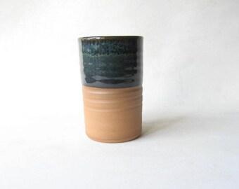 Pottery Tumbler 10 oz, Ceramic Glass, Handmade Drinking Vessel