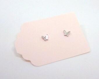 Silver Butterfly Stud Earrings - Tiny Butterfly Earrings - Sterling Silver Earrings - Insect Studs - Butterfly Studs - Small Butterflies