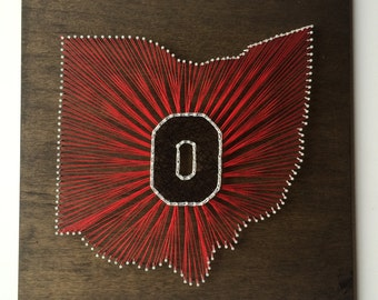 MADE TO ORDER Ohio State String Art, Block O String Art, Any State String Art