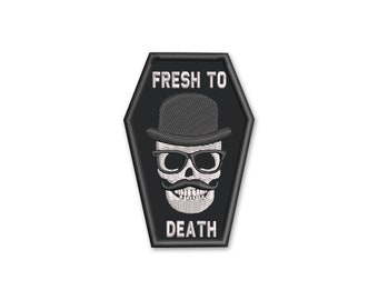 Fresh Death 1.98X2.96 inches Embroidered Morale Patch