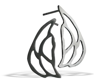 Elegant Silver Stud Earrings, Butterfly Earrings, Handmade  Unique Minimal Design Earrings, Gift ideas for Mother, Anniversary Gift, Porpe