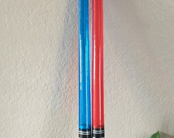 Set of 6 Inflatable Lightsabers, Star Wars Party Decorations, Darth Vader Decorations, Lightsaber Party Favors, Star Wars Party Favors