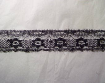 Very light (4) Black Lace Ribbon
