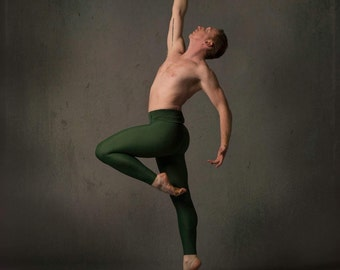 Men's Footed Tights in Jade ~ Aaron ~ Ready to Ship DY9ho