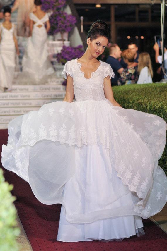 Land Landhaus Brautkleid Seide Brautkleid Hochzeit