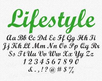 SVG Fonts, Calligraphy Font, Handwritten font, Cricut fonts, SVG Font, svg font files, Cricut and Silhouette - svg, eps, dxf, png