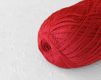 Cobweb pale red color wool yarn - haapsalu shawl yarn