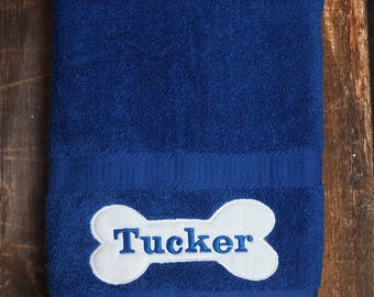 Dog Towel - Personalized Dog Towel - Dog Bath Towel - Custom Pet Towel - Dog Gift - Embroidered Towel - Dog Towel with Name - Custom Dog