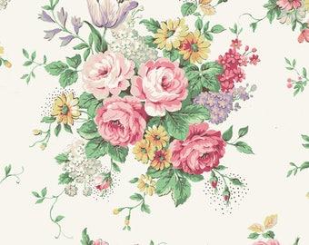 Quilt Gate USA Ruru Bouquet English Rose Garden Collection   English Rose Garden   # RU2310-11A Cream