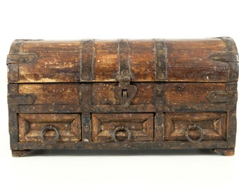 Old Asian Chest with Drawers