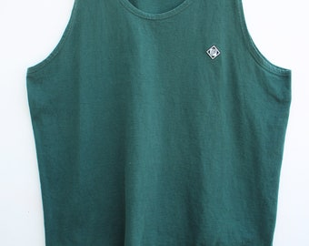 90s Tank - Men's LARGE L / Loose, Relaxed Fit / Forest Green / Franklin