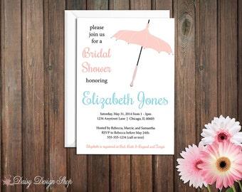 Bridal Shower Invitation - Simple Umbrella - Decorative