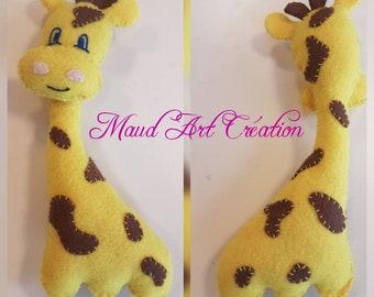 Giraffe rattle toy / plush giraffe rattle for baby with fabric