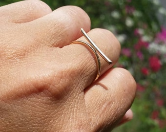 Gold Filled Bar Ring