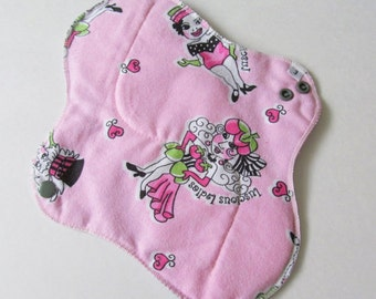 Mama Cloth Pad - Pink Luscious Ladies Print Flannel HEAVY Cloth Mama Pad Postpartum  .. 10 inch FREE SHIPPING
