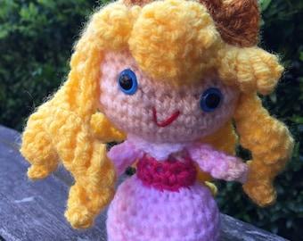 Handmade crochet Aurora the sleeping beauty