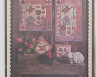 Birdhouse Bouquet Quilt Block Sewing Pattern From The Calico Seasons Collection Quilting Craft Supplies
