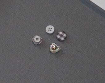 Push pins Vintage style Button Push pins-  Set of 8 push pins, bulletin board, cute push pins, small gift, office tacks decorative push pins