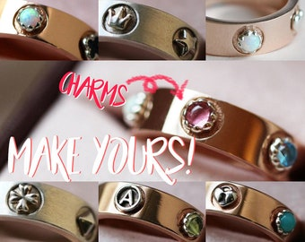 Bands, Band Rings + Charms   Choose the charms! Customizable Karlat Ring.