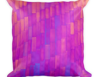 Outrageous Pink and Purple Modern Throw Pillow