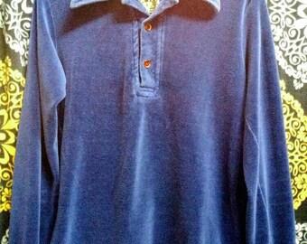 Vintage 1970's/80's velour shirt