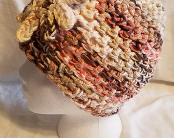 Woman's cotton beanie hat
