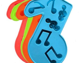 One Music Note Silicone Soap Candy Crayon Ice Chocolate Mold Supplies Jenuine Crafts