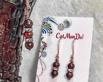 Mahogany Obsidian Necklace and Earrings