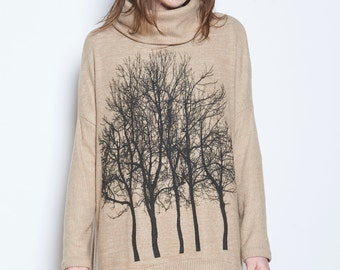 Fairytale Trees Poncho Chocolate