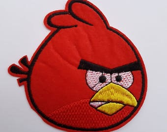 patch fusible felt angry birds red bird animal