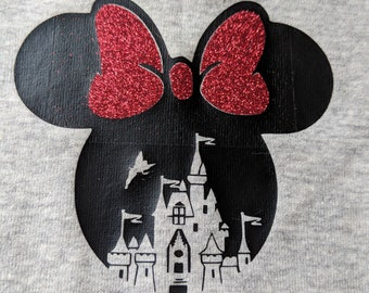Minnie Mouse/Magic Kingdom Baby Girl Body Suit