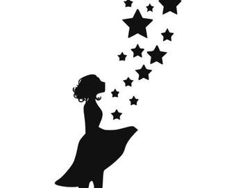 Pattern transfer girl with stars