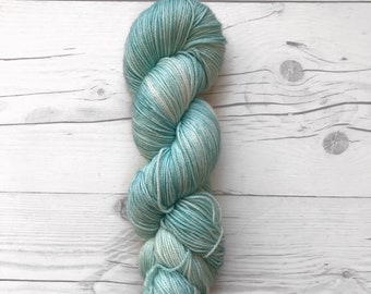 """Maven Sock - """"Teal fo' Real"""" - Fingering Weight - Hand Dyed Yarn"""